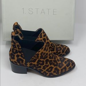 New/dis. 1 state Idrus leopard real cow hair fur